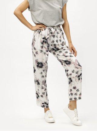 Pantaloni albi cu model DKNY
