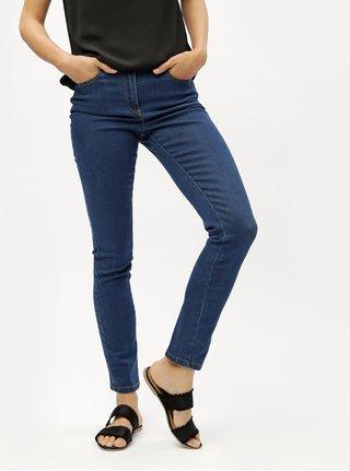Blugi de dama albastru inchis straight din denim M&Co