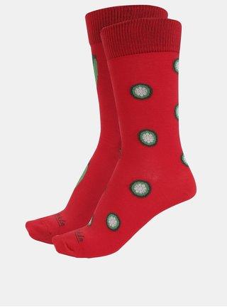 Červené unisex ponožky s motívom paprík Fusakle Chilli