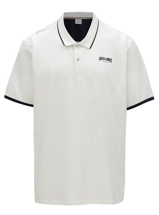 Tricou polo crem cu logo Jack & Jones Retro Jack