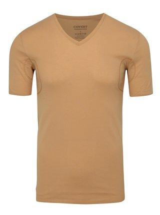 Tricou basic skinny roz pal cu insertii respirabile Covert Underwear