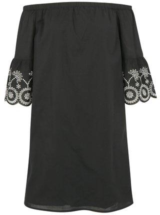 Čierne šaty s odhalenými ramenami Dorothy Perkins Tall