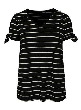 Tricou negru in dungi Dorothy Perkins Curve
