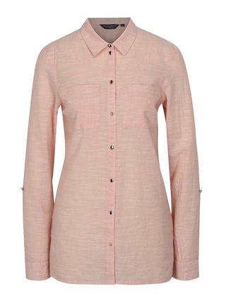 Světle růžová košile s dlouhým rukávem Dorothy Perkins Tall