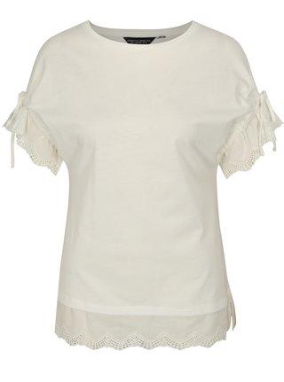 Crem tricou cu snururi pe maneci Dorothy Perkins