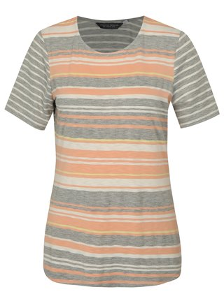 Tricou roz piersica si gri in dungi Dorothy Perkins Tall