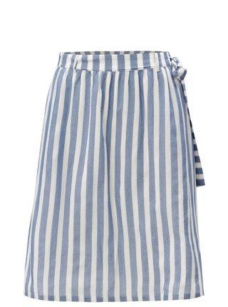 Modro-krémová pruhovaná sukně VILA Vimajie