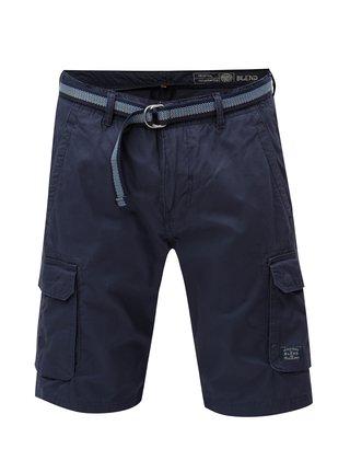 Pantaloni scurti albastru inchis cu curea Blend