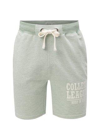 Pantaloni scurti verde deschis sport cu print Blend