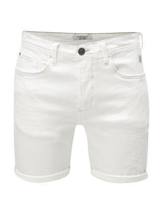 Bílé džínové slim fit kraťasy Blend