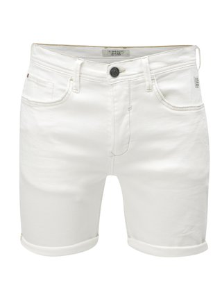 Pantaloni scurti albi slim fit din denim Blend