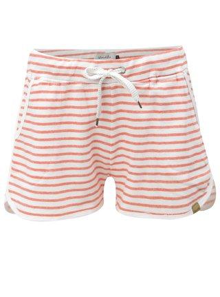 Pantaloni scurti sport alb-rosu in dungi Blendshe Cilie