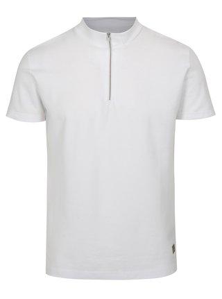 Bílé tričko se zipem Lindbergh