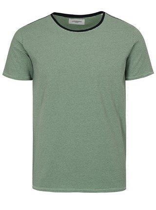 Svetlozelené pruhované tričko s krátkym rukávom Lindbergh