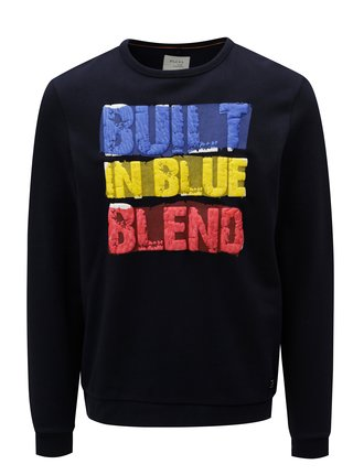 Tmavě modrá regular fit mikina s potiskem Blend