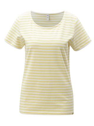 Bílo-žluté pruhované tričko Blendshe Jemima