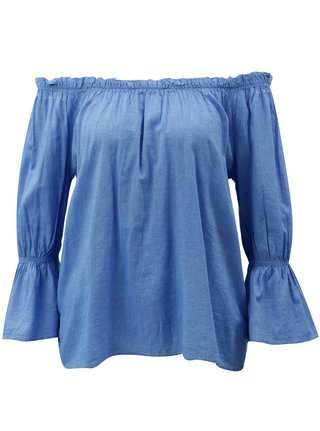 Modrá halenka s odhalenými rameny Blendshe Daisy