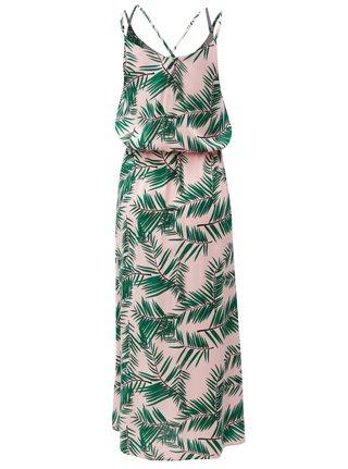Zeleno-ružové vzorované maxišaty na ramienka Blendshe Adeli