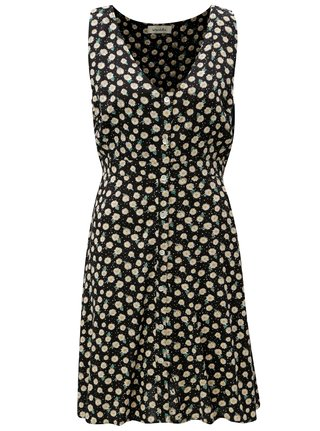 Černé květované šaty Blendshe Jose