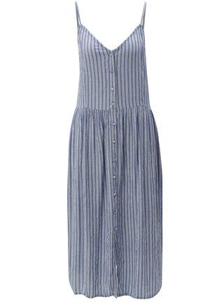 Rochie albastra midi cu bretele subtiri Blendshe Susi