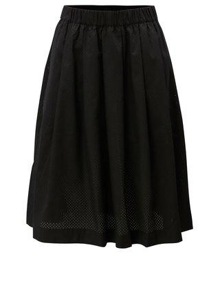 Čierna sukňa s dierkovaným vzorom Moss Copenhagen