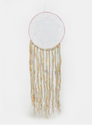 Bílo-béžový lapač snů Kaemingk