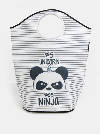 Cos crem-negru pentru haine cu imprimeu panda Butter Kings