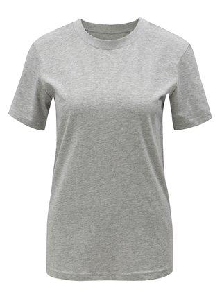 Sivé dámske melírované basic tričko Stanley & Stella Selects