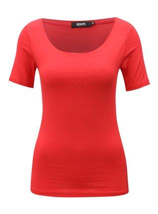 Červené basic tričko s krátkým rukávem  ZOOT