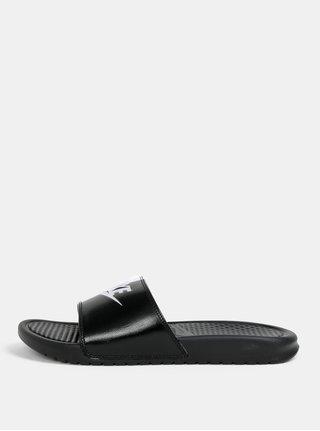 Bielo–čierne pánske šľapky Nike Benassi