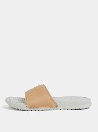 Béžovo-sivé dámske šľapky Nike Benassi