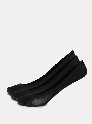 Kolekcia troch párov bavlnených sneaker ponožiek v čiernej farbe Bellinda