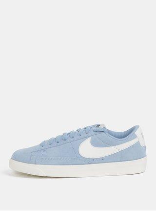 Světle modré dámské semišové tenisky Nike Blazer Low