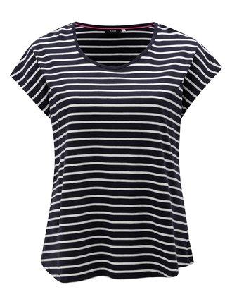 Tmavě modré pruhované basic tričko Zizzi Mina