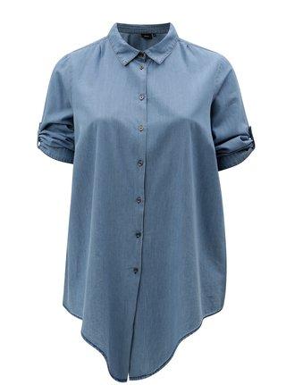Modrá košile s 3/4 rukávem Zizzi Deni