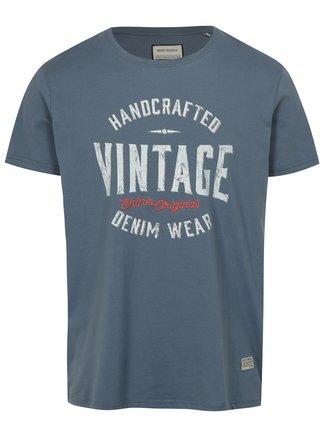 Tricou albastru cu imprimeu Vintage Shine Original