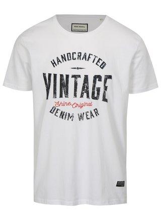 Bílé tričko s potiskem Vintage Shine Original