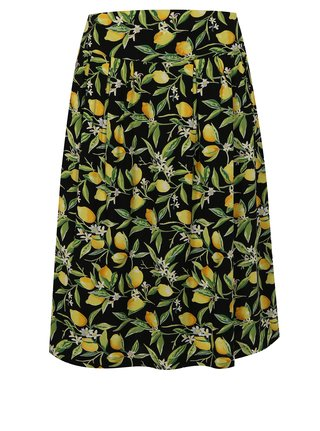 Žlto–čierna vzorovaná sukňa Fever London Lemon