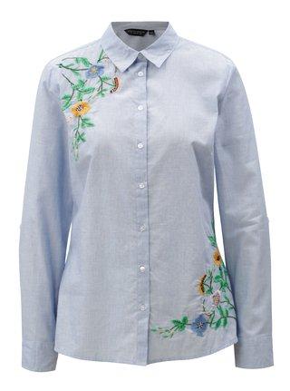 Světle modrá košile s výšivkou Dorothy Perkins
