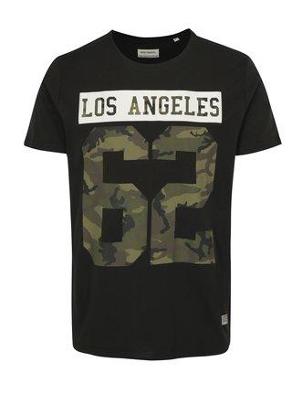 Tricou negru cu imprimeu Los Angeles Shine Original