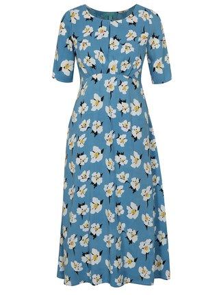 Světle modré květované šaty Fever London Emilie