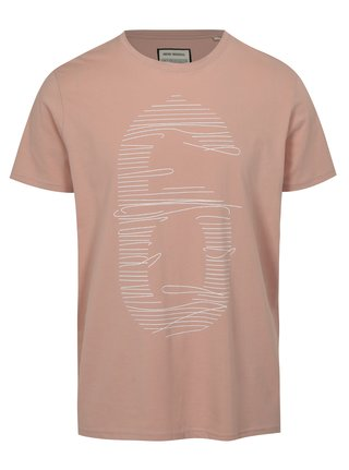 Tricou roz deschis cu imprimeu cifra Shine Original