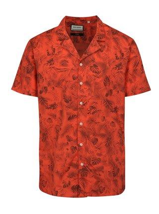 Červená vzorovaná košeľa s krátkym rukávom Shine Original
