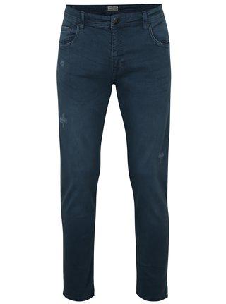 Tmavě modré tapered fit džíny s potrhaným efektem Shine Original