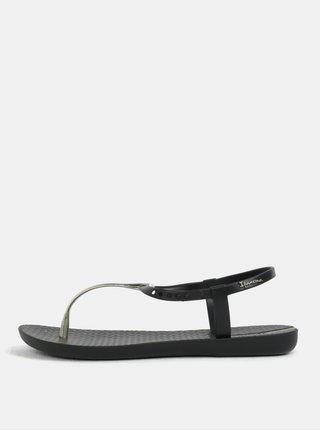 Černé sandály s detaily ve zlaté barvě Ipanema Charm V