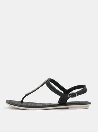 Čierne sandálky s ozdobnou aplikáciou Grendha Sense