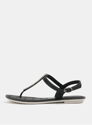 Sandale negre cu aplicatie decorativa Grendha Sense