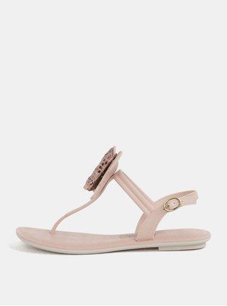 Světle růžové sandály s aplikací motýla Grendha Sense II