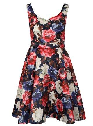 Tmavě modré vzorované šaty Mela London