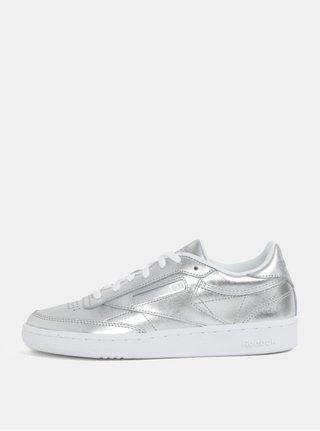 Dámské kožené tenisky ve stříbrné barvě Reebok Club C 85